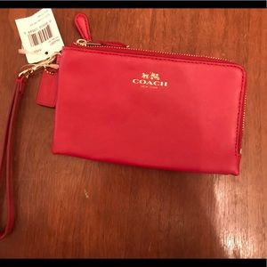 Coach wristlet Classic Red